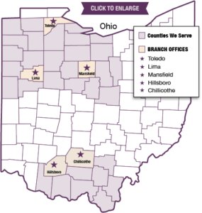 Ohio Counties Served