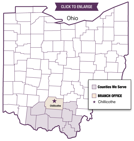 Ohio Map of Kendall Locations